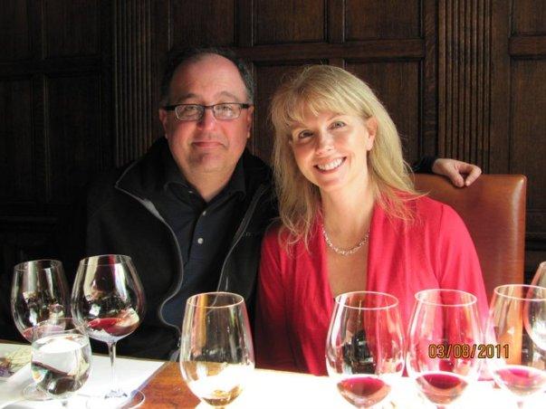 Laura and Vito at Terra Valentine winery
