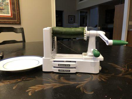 Spiralizer with zucchini