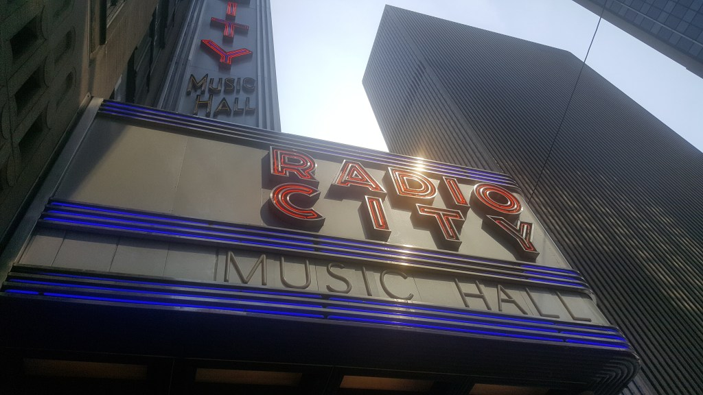 Radio City on Avenue of Americas.