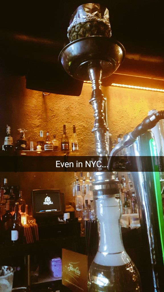 I had to get my shisha fix in NYC.