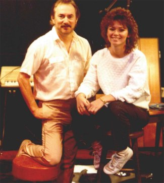 Eilleen Twain (now Shania) and me in the studio in Nashville - November 30, 1984