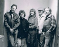 L-R Tim Denis, Eilleen (Shania) Twain and background singers at our recording session Nashville. November 1984