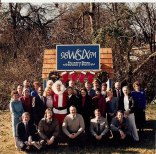 The 98 WSIX-FM -Nashville crew. That's me in the black jacket and white pants on the right. 1985