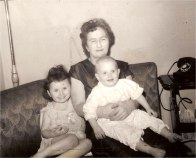 My birth Mom Cecelia with my sister Audrey and brother Ben - Circa 1943