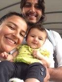 Martica's daughter Natalia, Andres and baby Amaranta