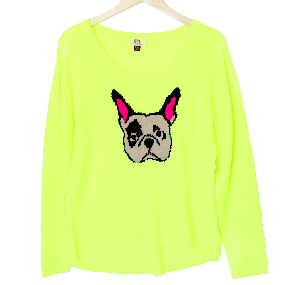 Lightweight Hi Lo French Bulldog Tacky Ugly Sweater The