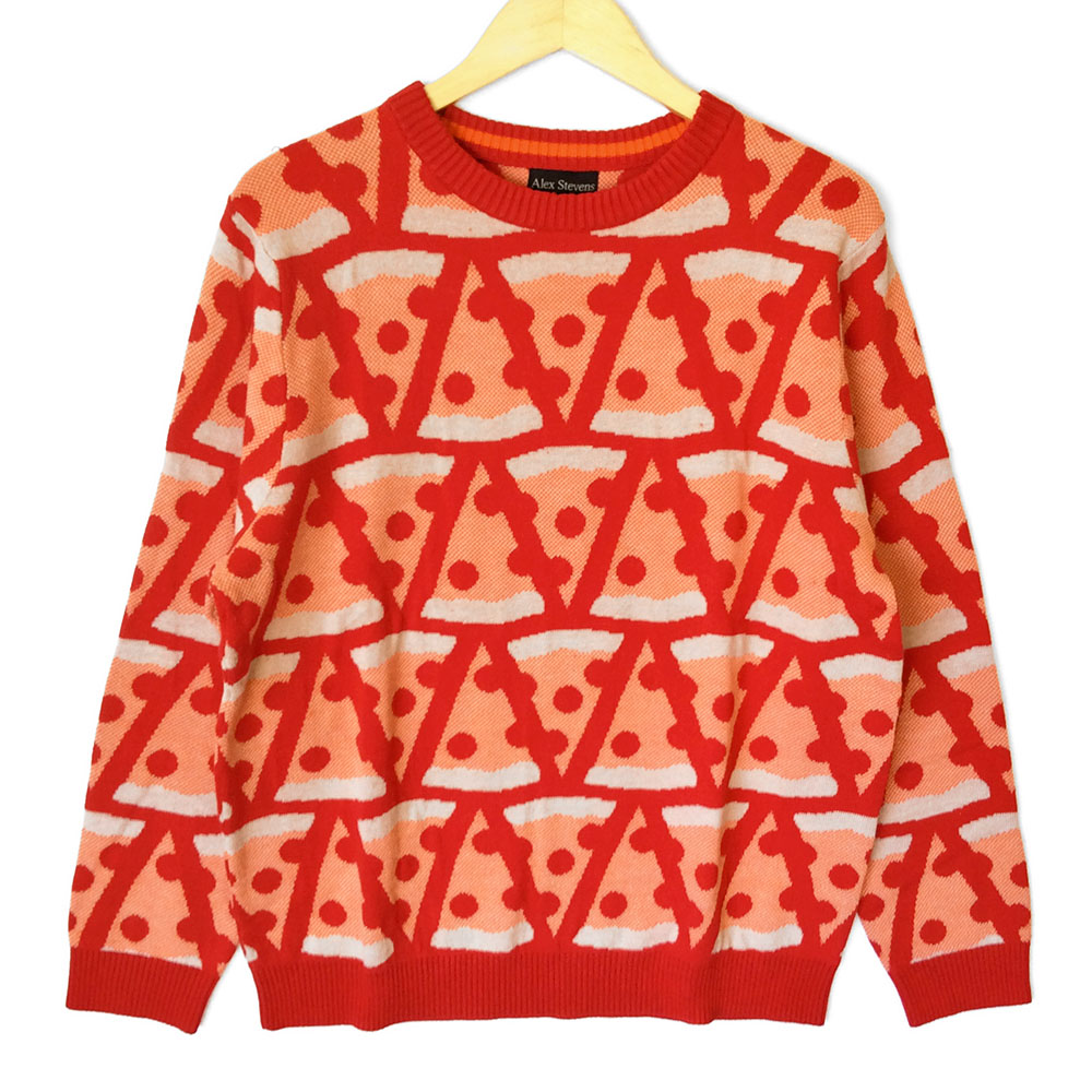 Alex Stevens Pepperoni Pizza Ugly Sweater The Ugly