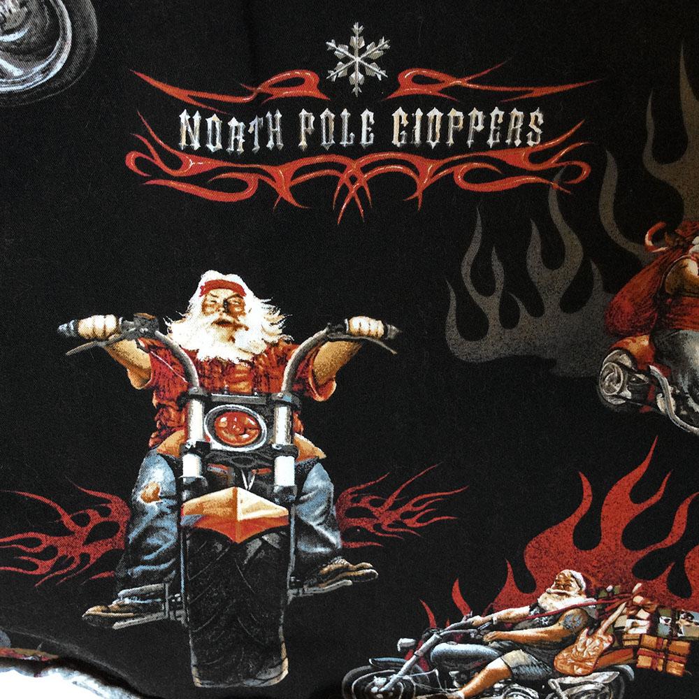 North Pole Choppers Biker Santa Ugly Christmas Shirt The