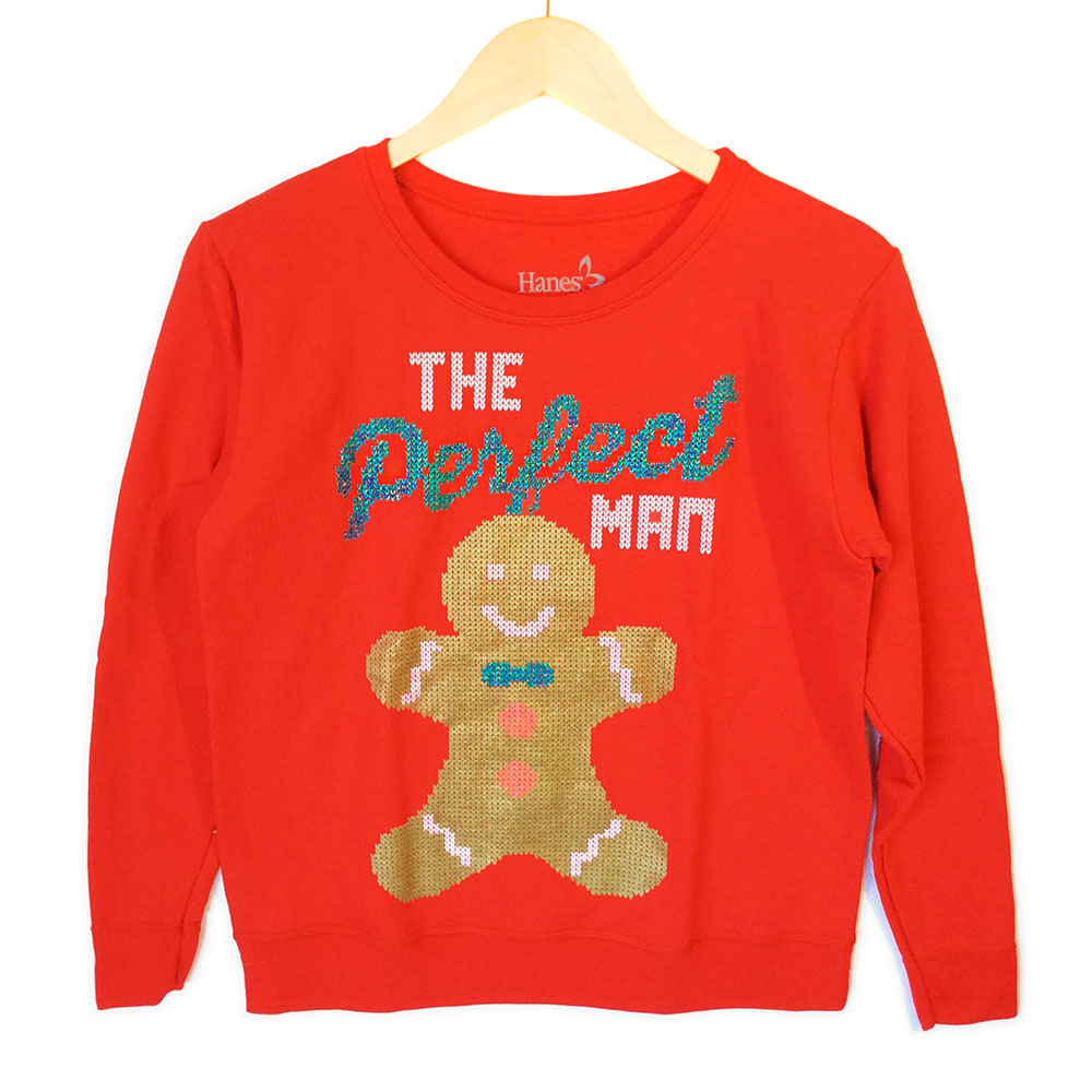 The Perfect Gingerbread Man Ugly Christmas Sweatshirt