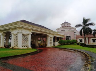 the clubhouse's front view