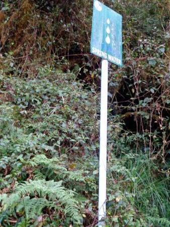 Spring water signage