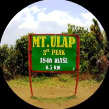 The signage that we survived Mt. Ulap.