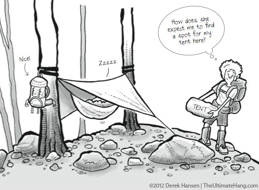 Hammocks vs. Tents Over Rocky Ground