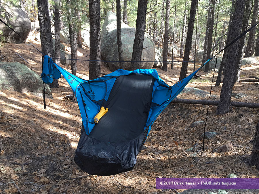 The Amok Draumr requires a thick, inflatable pad to even make the hammock work. No pad, no hammock.