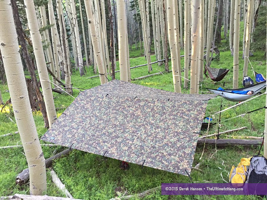 ddtarp3x3 topview  the dd tarp     dd tarp 3x3 mc review   the ultimate hang  rh   theultimatehang