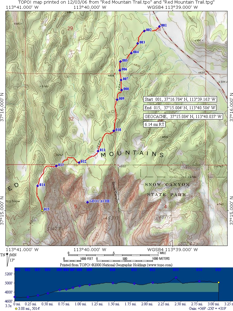 Red Mountain snow-canyon-hike-map