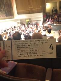 Charlottesville Symphony Concert