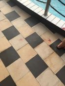 Pool of blood even after washing it with water