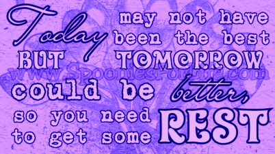 There's always tomorrow!