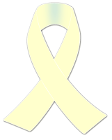 cream awareness ribbon sticker