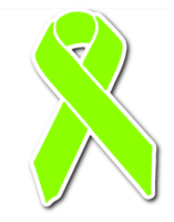 lime green awareness ribbon