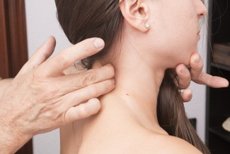 Seeing a physiotherapist can help with neck pain.