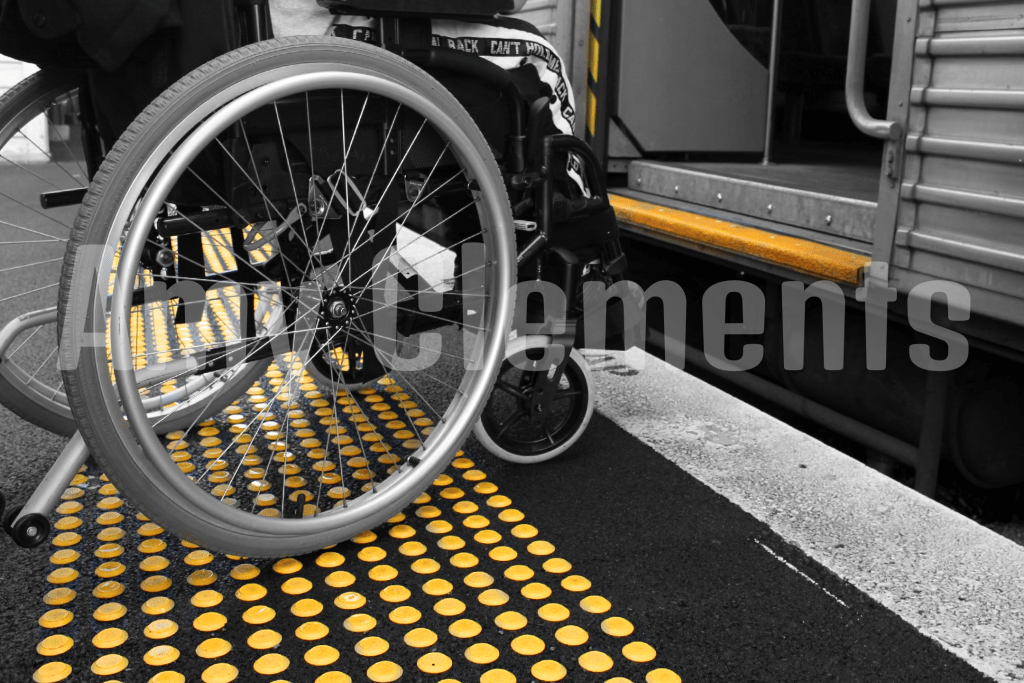 While the newer trains have easy access points for people with disabilities, these older ones don't. They require the passenger to take a large step to board them. Or, if you are unable to do so, they have ramps the train manager/conductor can attach to the step to assist you in boarding the train.