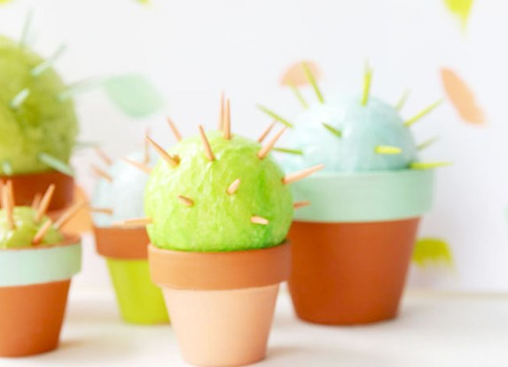 Toothpick cactuses10 Toothpick Arts amp Crafts for Kids