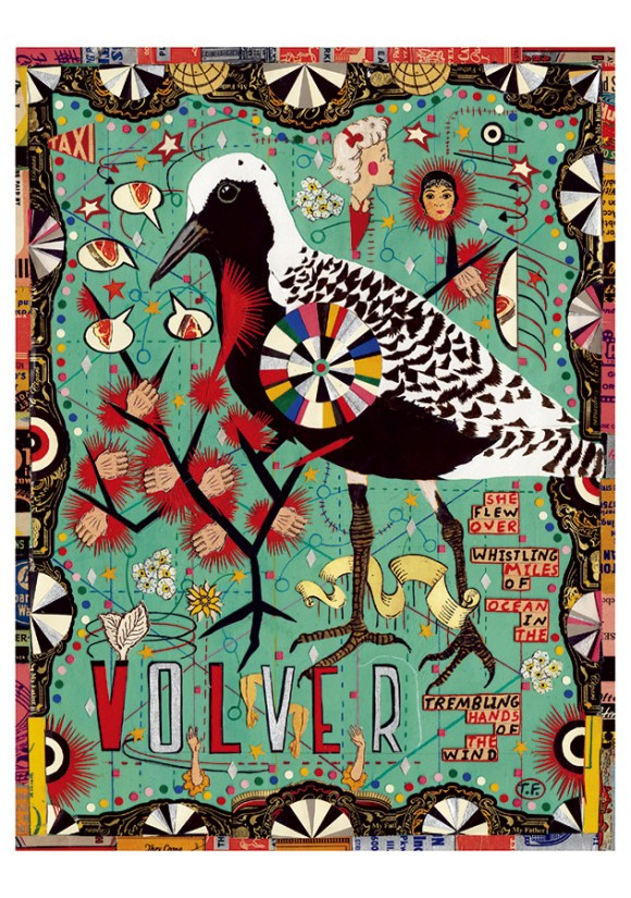 Tony fitzpatrick the secret birds 178 Collage Project for Kids