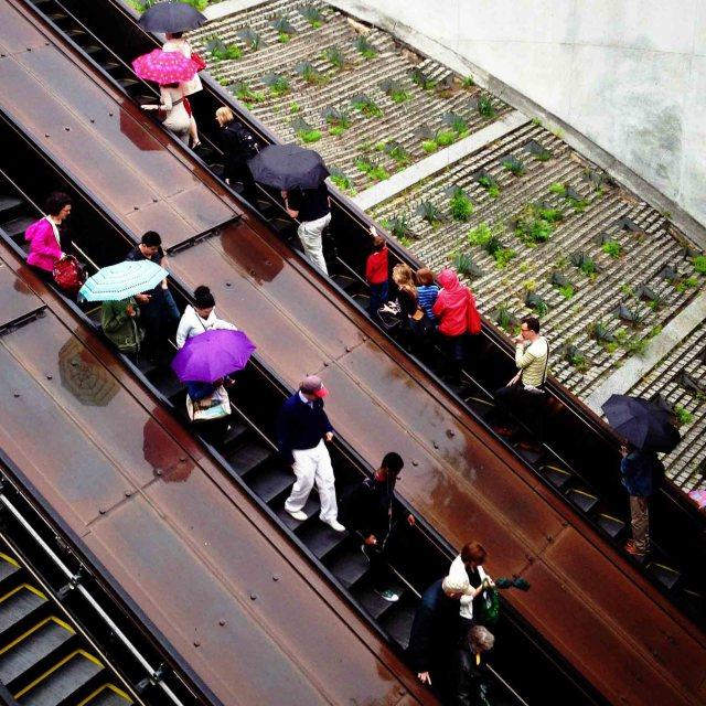 The endless Dupont Circle escalator project
