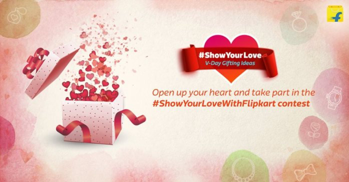 Flipkart'S marketing strategy sells the brand as well as the idea of Valentine's Day to you.