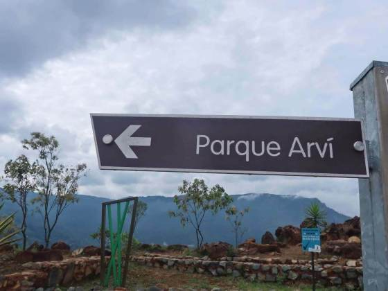 Sign for Parque Arvi