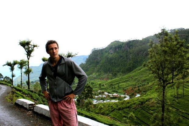 Chris lost by Lipton's Seat tea plantation in Sri Lanka