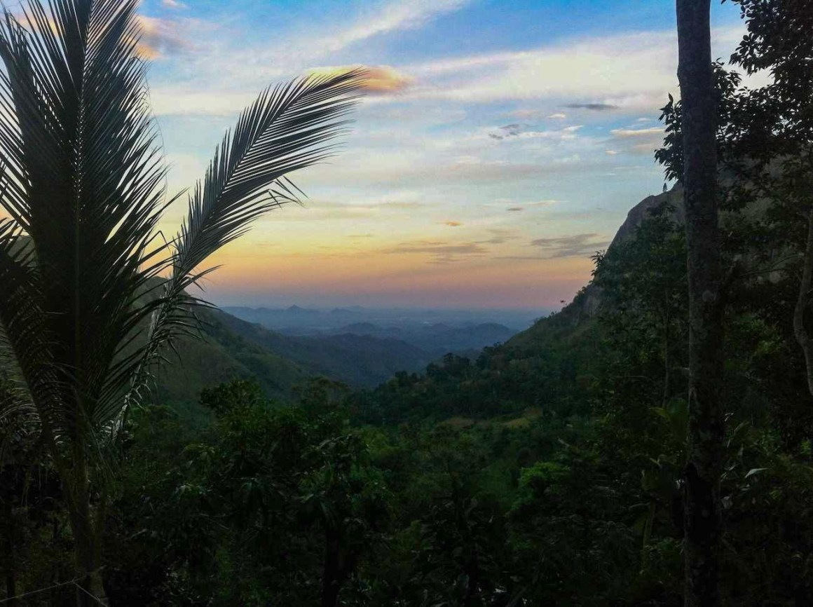 view from Mount View guesthouse in Sri Lanka