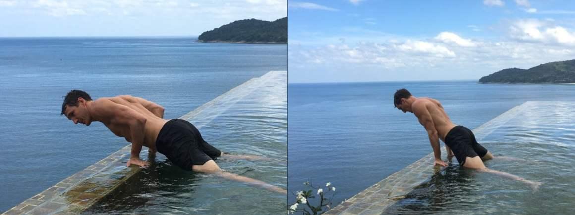 planche pushups water calisthenics pool circuit workout
