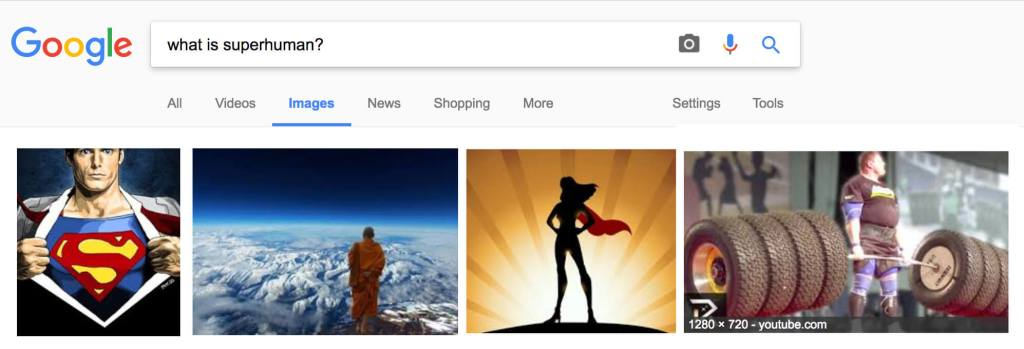 googling what is superhuman?