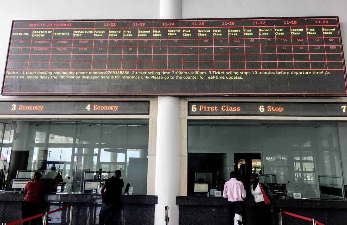 mombassa train station ticket availability