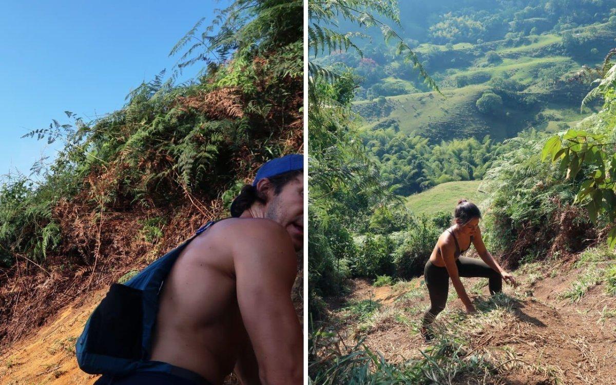 Steep Cerro Tusa hike path