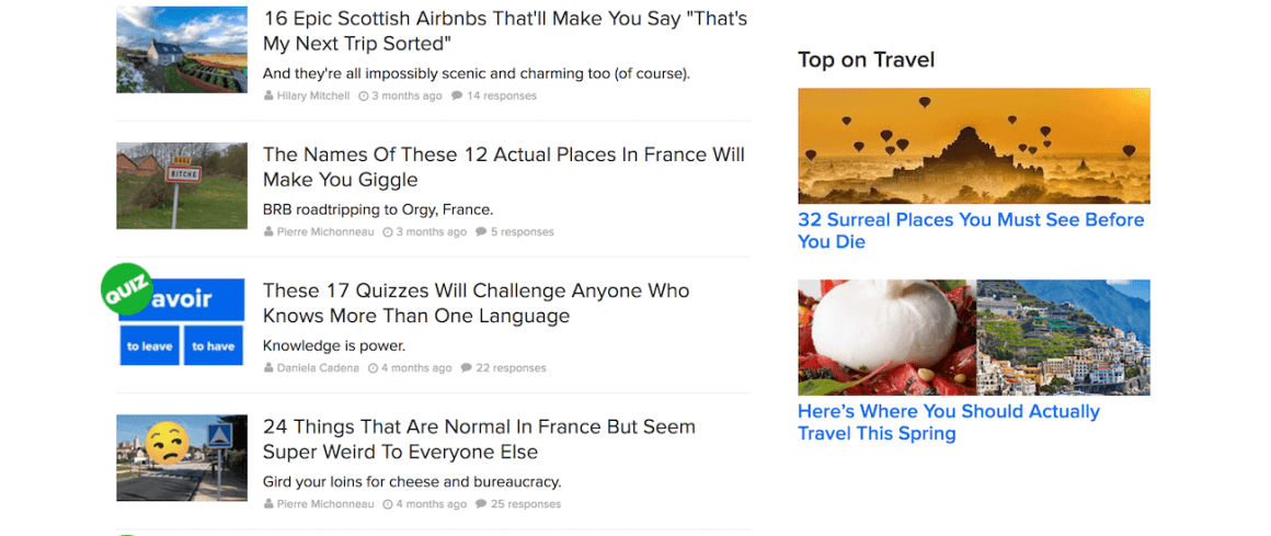 clickbait examples used by travel blogs not guidebooks