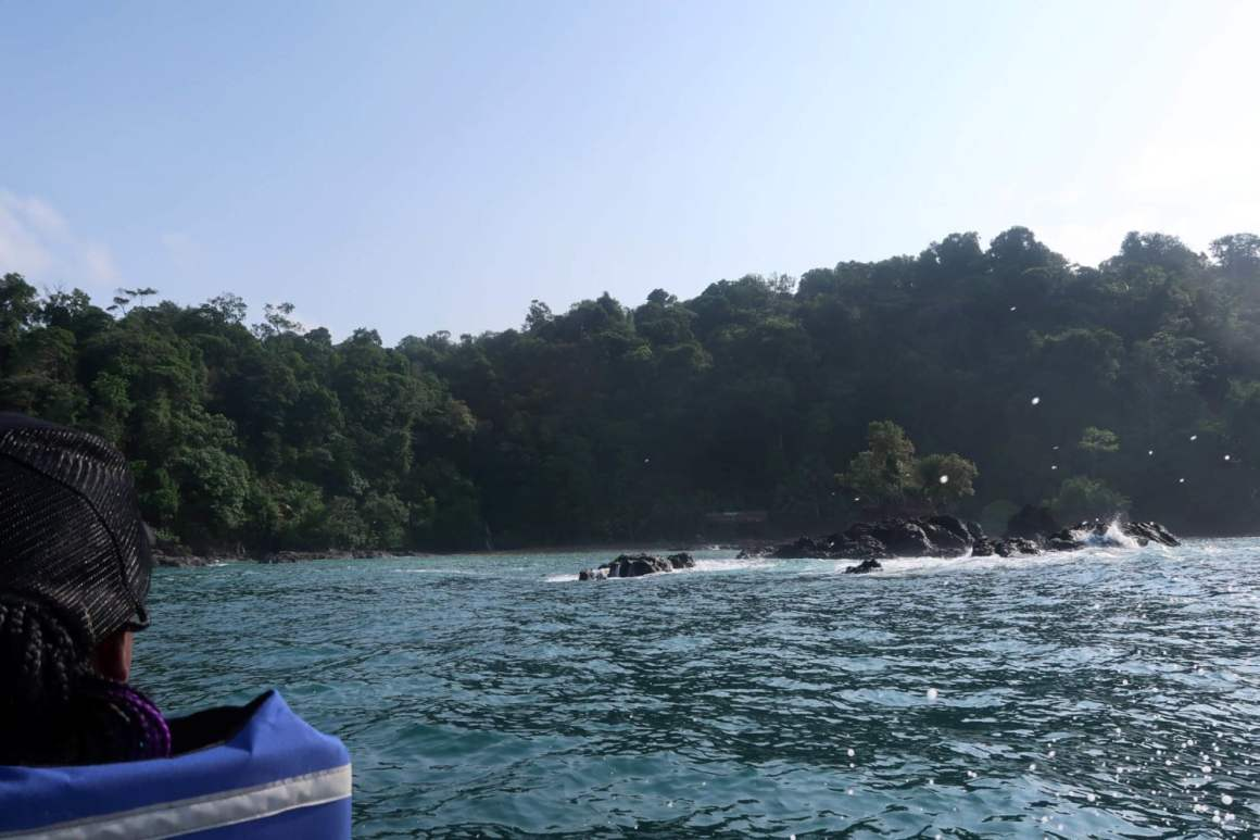boat ride from el valle to cascadas el tigre waterfalls bahia solano