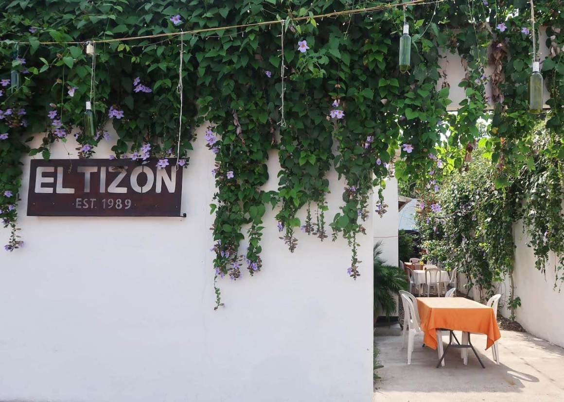 The outside of El Tizon restaurant in Honda