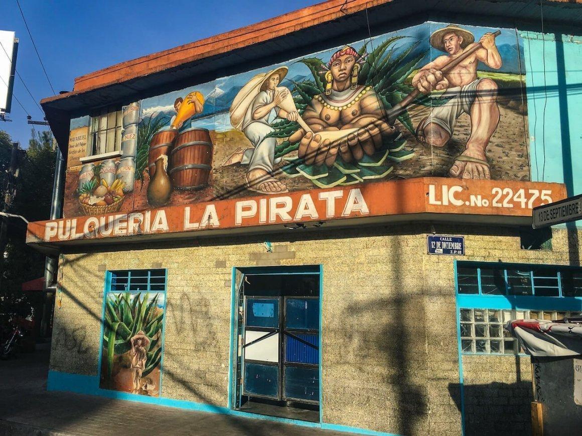 facade of Pulqueria la Pirata