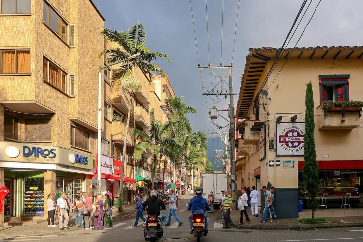 Street somewhat near one of our favorite things to do in Medellin