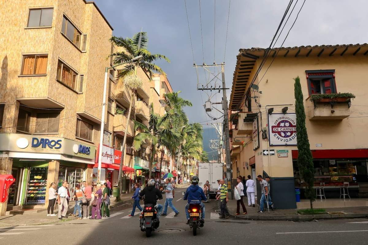 Busy street in Envigado