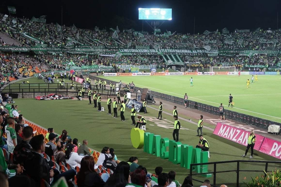 Soccer game in Medellin