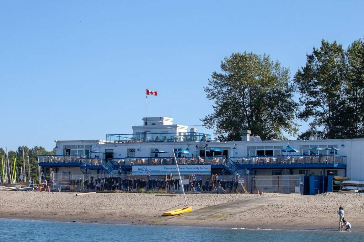 The Galley, Jericho Sailing Club, and the beach.