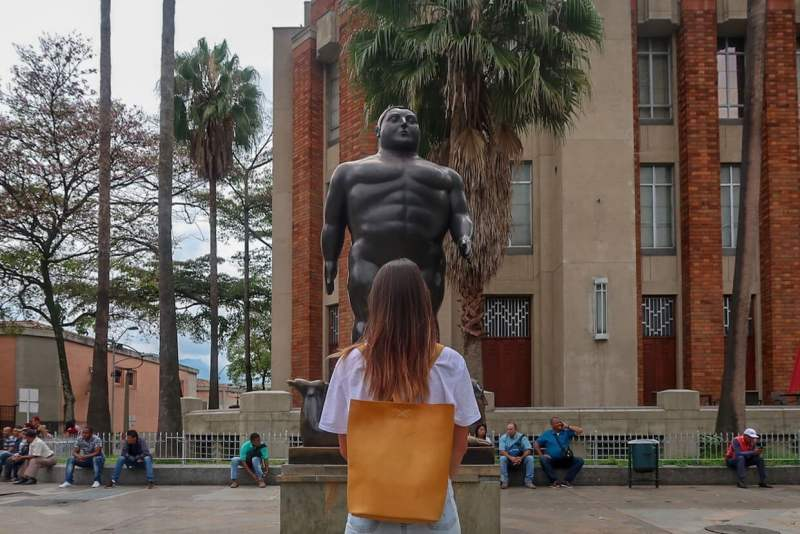 Kim on the walking tour, one of our top ten things to do in Medellin