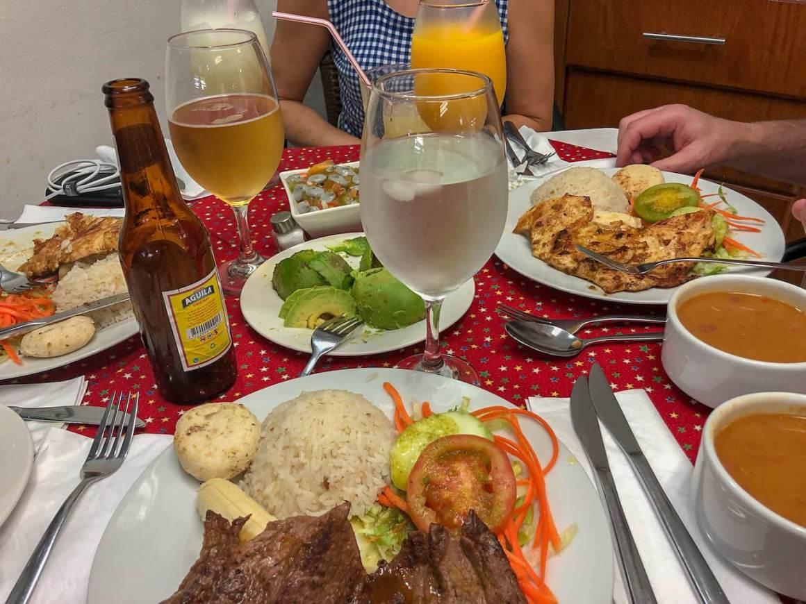 Dishes at Aqui Paro Lucho