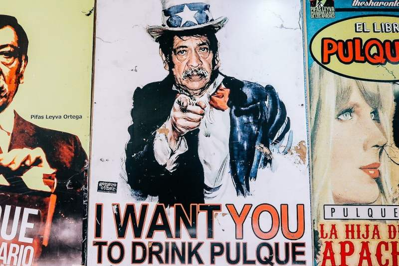 pulque propaganda at hija de los apaches in mexico city