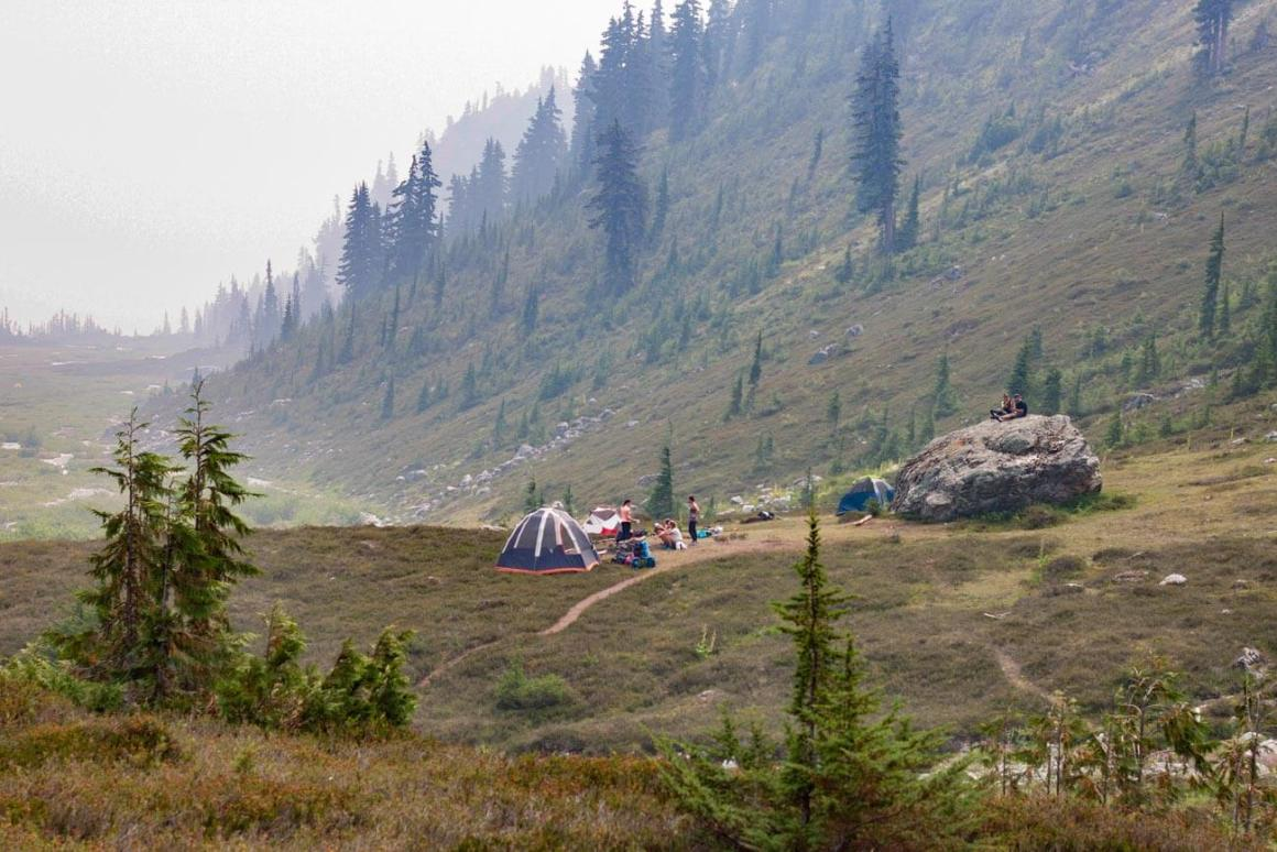 Campers on Brandywine meadows